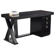 Sunpan 'Ikon' Madero Contemporary Wood Desk with Drawers