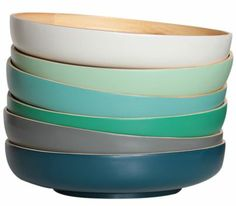 Cannot get enough of the beautiful range of colours on these bowls! Vibrant Colors, Colours, Ceramic Tableware, Serving Dishes, Kitchen Dining, Bamboo, Pottery, Canning, Think