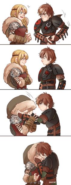 Hiccup y Astrid Hiccup Y Astrid, Merida And Hiccup, How To Train Dragon, How To Train Your, Dreamworks Dragons, Disney And Dreamworks, Hicks Und Astrid, Dragon Trainer, The Big Four