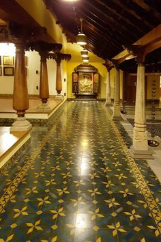 Indian Home Design, Kerala House Design, Small House Design, Modern House Design, Home Tiles Design, Home Room Design, Dream Home Design, Courtyard House Plans, Courtyard Design