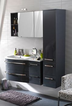 salle de bains on pinterest dark grey bathrooms cats and html. Black Bedroom Furniture Sets. Home Design Ideas