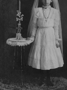 Confirmation of a young girl, early 20th century