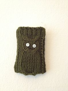 Green  Knitted Owl Cell Phone Case Android Case by StyleCase, $15.00
