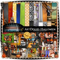 Art Dollies - Halloween by Holliewood Studios @ mischiefcircus.com. A digital scrap kit for your scrap or art.