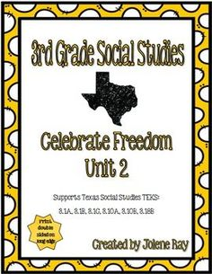 This product supports 3rd grade social studies TEKS: 3.1A, 3.1B, 3.1C, 3.10A, 3.10B, 3.18B   **print double sided on long edge**This is a great resource to use when covering the TEKS listed above regarding the formation of our communities and our nation.