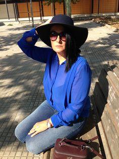 My look total blue www.eliguerrero.com