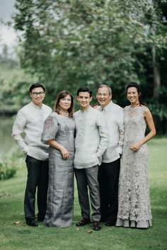 This Couple Opted for Simple and Understated Details for Their Wedding, and It Looked Stunning! Barong Tagalog Wedding, Barong Wedding, Filipiniana Wedding Theme, Wedding Groom, Wedding Entourage, Tagaytay Wedding, Brazilian Wedding, Filipino Wedding, Neutral Wedding Colors