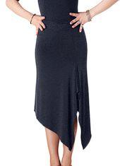 Tasha by Popcon Asymmetric Latin Skirt TWLS008-Black