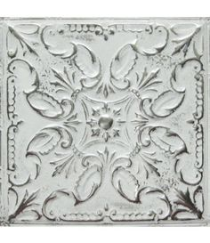 American Tin Ceilings Pattern #14 in Artisan Silver Washed White