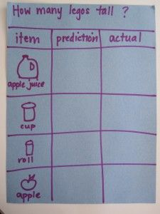 Preschool Math Lesson: Lego Measurement – No Time for Flash Cards - Preschool-Kindergarten Preschool Science, Preschool Lessons, Preschool Kindergarten, Preschool Learning, Math Lessons, Teaching Math, Maths, Preschool Ideas, Lego Math