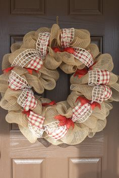 Extra Southern Deco Mesh Wreath by SimplySouthernNC on Etsy, $45.00