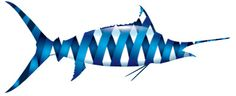Blue marlin wrap vector illustration #blue-marlin #fishing #vector