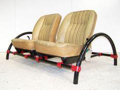 VINTAGE ROVER CAR SEAT TOP GEAR RON ARAD ROVER SCAFFOLD SOFA CHAIR 70s 80s 90s | eBay