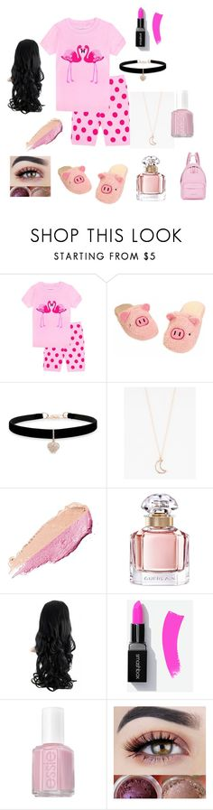 """Getting ready for Ema's Sleepover"" by barbie-stardolls ❤ liked on Polyvore featuring Betsey Johnson, Full Tilt, By Terry, Guerlain, Essie and Givenchy"