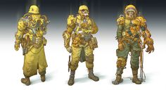 Post-apocalyptic soldiers and cyborgs_2 by IvanLaliashvili.deviantart.com on @DeviantArt