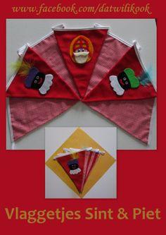 Vlaggen slinger Sinterklaas en Zwarte Piet
