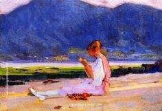 Clarence Gagnon, The Painter's Young Wife, Baie-Saint-Paul