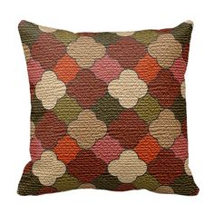 Decorative #Colorful #Lattice #Burlap #Print #Pillows #zazzlebesties #zazzle #shopping #gifts