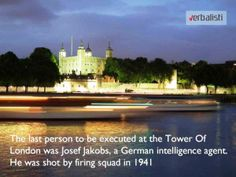 Tower of London and Josef Jakobs