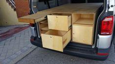 Camperizaciones – JCea Volkswagen, T5, Home, Small Cabinet, Solid Oak, Wood, Ad Home, Homes, Haus