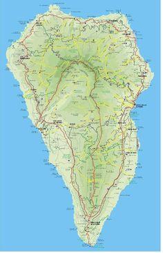 Markierte Wanderwege auf La Palma. Die Karte ist leider nicht mehr ganz aktuell eine neuere Ausführung gibt es zurzeit nicht. Sie können die Karte auf der Website des Cabildos Herunterladen.