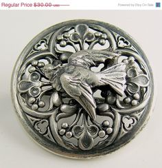 Vintage Victorian French Sterling Silver Bluebird by jujubee1, $24.00
