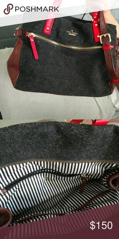 Kate Spade bag Felt purse with leather accents kate spade Bags