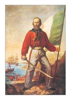 GIUSEPPE GARIBALDI Italian General /& Politician Antique Print c1870