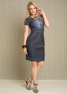moda-evangelica-vestido-jeans-escuro