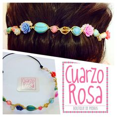 Diadema alambrada de flores (wired flower headband) *handmade, made with love