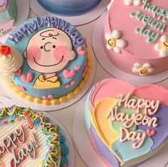 Pretty Birthday Cakes, Pretty Cakes, Beautiful Cakes, Cake Birthday, Mini Cakes, Cupcake Cakes, Korean Cake, Korean Dessert, Pastel Cakes