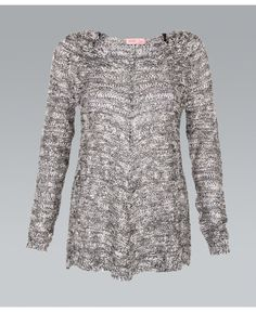 Gray Sequin Knit A Line Sweater// #ustrendy #gray #silver #sequin #knit #sweater #fallfashion