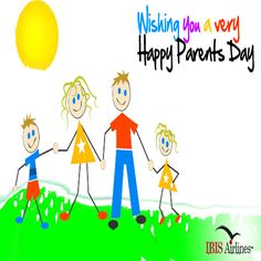 Happy #ParentsDay to all the amazing, hard-working, loving parents out there who show, love and teach our younger generation how to be responsible citizens www.IBISAirlines.com