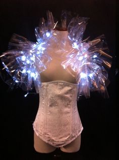 PVC Light Up LED Shrug Cybergoth Burlesque Circus Clubwear LED Lady Gaga Costume Burning Man Prom Barbarella Avant Garde Sci Fi Couture on Etsy, $60.00
