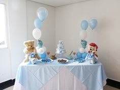 Balloon Decoration - 85 Ideas to Copy at Your Party Baby Shower Parties, Baby Boy Shower, Baby Shower Gifts, Baby Tea, Craft Party, Balloon Decorations, Kids And Parenting, Balloons, Holiday Decor