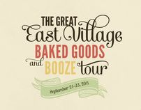 Baked Goods and Booze by Lauren Hom, via Behance