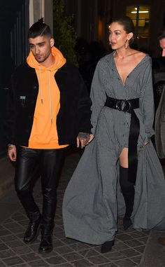 Paris pair! The cute couple is seen hand in hand in the city during fashion week.