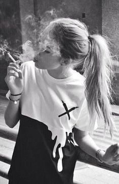 top black and white t-shirt shirt dripping white black grunge alternative cool shirts cool girl style smoke People Smoking, Smoking Ladies, Girl Smoking, Smoking Weed, Smoking Cigarettes Photography, Girls Smoking Cigarettes, Fume Cigarette, Cigarette Girl, Smoke Photography