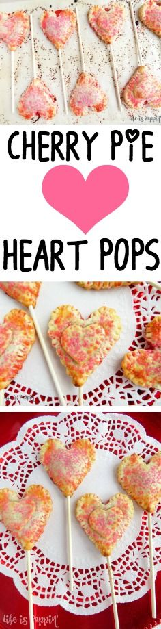 Move over chocolate, there's a new Valentine's day treat in town! This year, let's try these cherry pie heart pops instead. With just a few simple ingredients, a cookie cutter and some sucker sticks, you can whip up a batch of these bad boys yourself. Read more --> http://lifeispoppin.com/cherry-pie-heart-pops/