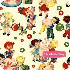 Retro Basics by Michael Miller Fabrics #children #retro #vintage by Manueeltje