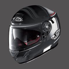 Casco per Moto X-LITE X-702 GT FLAT BLACK RED WHITE