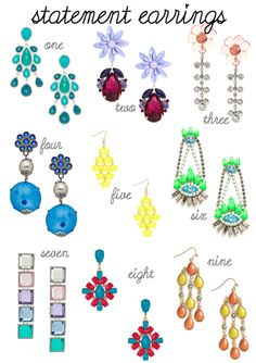 Make a statement this summer with stunning earrings! #fashion #jewelry #blog