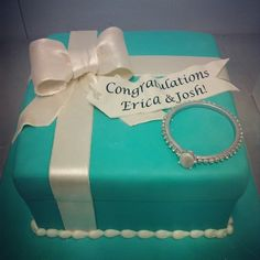 Ring and box cake, perfect for an engagement party!