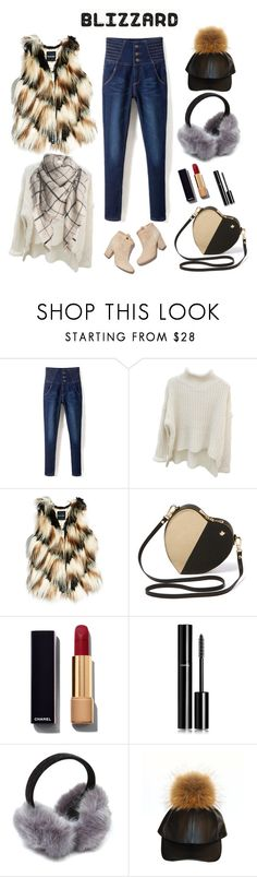 """Brrrrr! Winter Blizzard"" by piedraandjesus ❤ liked on Polyvore featuring GUESS by Marciano, Laurence Dacade, Chanel and blizzard"