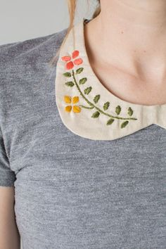 DIY Hand Embroidered Peter Pan Collar Tutorial by The House That Lars Built