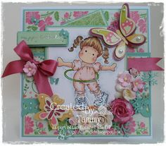 Magnolia stamp - Rocking Tilda, Sweet Rainbow collection, Magnolia stamps