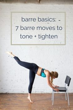 Getting fit is easy with this barre workout! These 7 barre exercises will tone and tighten your troubled areas, all while doing an at home workout you'll enjoy. Grab these barre strength training exercises as a workout for women you can do anywhere! Fitness Workouts, Yoga Fitness, Strength Training Workouts, Fitness Tips, Fitness Motivation, Training Exercises, Physical Fitness, Weight Exercises, Fitness Games