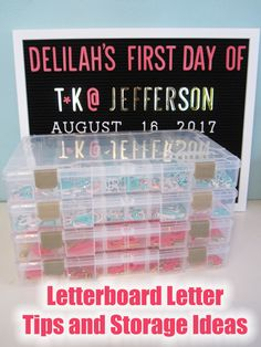 Letterboard letter storage and cutting tips.