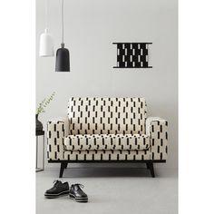 whkmp's own Torino loveseat Torino met streepjes Interior Design Boards, Interior Design Living Room, Sofa Chair, Couch, Diy Sofa, Interior Inspiration, Cribs, Love Seat, Black And White