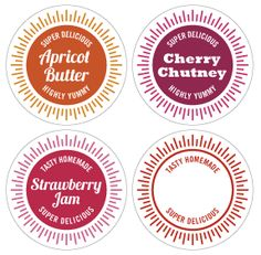 Printable Jar labels